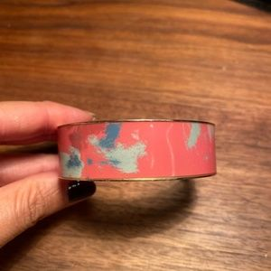 J Crew Coral Enamel Bangle